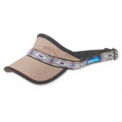 KAVU - Synthetic Strapvisor - Pet maat One Size, beige/grijs/zwart