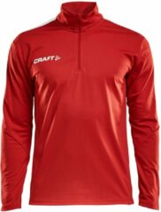 Craft Progress Halfzip LS Shirt Heren Sportshirt - Maat L - Mannen - rood/wit