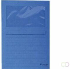 Exacompta L-mappen Forever 50102E A4 Blauw Recycled papier Met venster 22 x 31 cm 100 Stuks