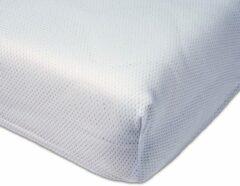 Witte ABZ polyester Airgosafe peuter hoeslaken 70x150