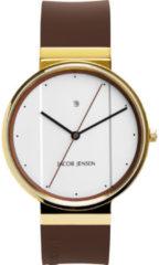 Jacob Jensen 778 horloge heren - bruin - edelstaal doubl�
