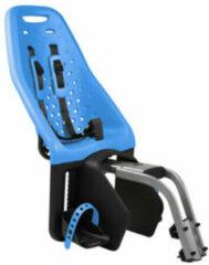 Blauwe Yepp Fietszitje Maxi achter blauw framebuisbevestiging
