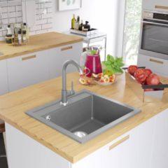 VidaXL Lavello da Cucina in Granito Vasca Singola Grigio