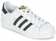 Witte Adidas SUPERSTAR FOUNDATION J C77154 - schoenen-sneakers - Vrouwen - wit/zwart - maat 35.5