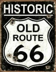Usa Route66 reclamebord en wandbord historic