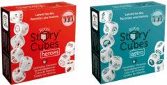 Merkloos / Sans marque Spellenbundel - Dobbelspel - 2 Stuks - Rory's Story Cubes Astro & Heroes