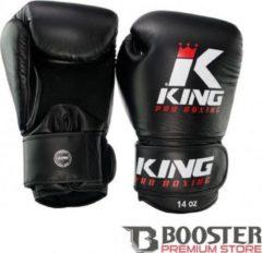 King Pro Boxing|Bokshandschoenen|KPB/BG|Zwart |14 oz