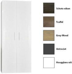 Antraciet-grijze Kolomkast Sanicare Q4/Q15 2-Deurs Soft-Closing 160x67x32 cm Antraciet