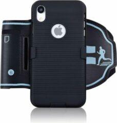 Blauwe ZWC - iPhoneHoesjes.nl Sportarmband iPhone XR - zwart