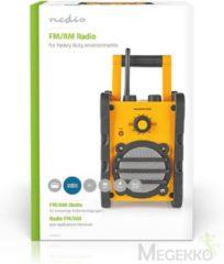 Nedis RDFM3000YW Draagbare Fm-radio Fm / Am-radio 3 W Geel / Zwart