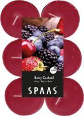 Roze Spaas 12x Maxi geurtheelichtjes Berry Cocktail 10 branduren - Geurkaarsen bosvruchten geur - Grote waxinelichtjes