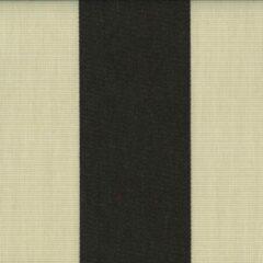 Creme witte Acrisol Malibu Crudo Negro 1030 creme, zwart gestreept stof per meter buitenstoffen, tuinkussens, palletkussens