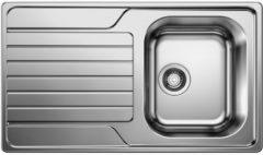 Van Marcke inbouwspoelbak Blanco Dinas 45S 1 bak 860x500mm omkeerbaar RVS