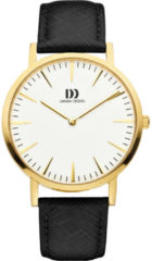 Gouden Danish Design watches unisexhorloge London White Gold/Black Large IQ11Q1235