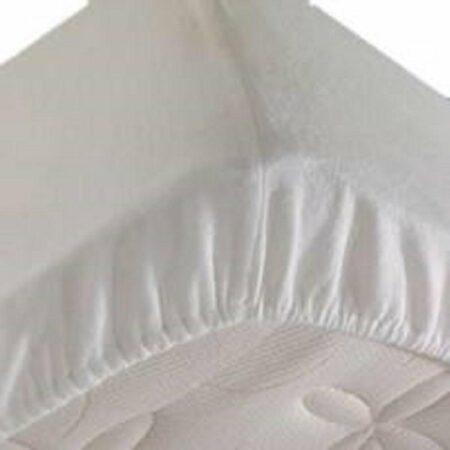 Afbeelding van S.A.COLLECTION Waterdichte matrasbeschermer 160x200cm - 100% katoenen badstof - wit