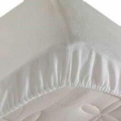 S.A.COLLECTION Waterdichte matrasbeschermer 160x200cm - 100% katoenen badstof - wit