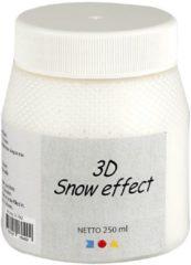 Witte Creotime Sneeuw Pasta 3D - Hobby Decoratie - 250 ml