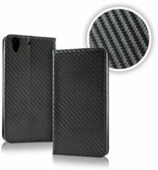 Smart Carbon Wallet Case voor Samsung S9 Zwart