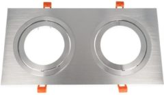 Groenovatie LED line Inbouwspot - Dubbel - Vierkant - AR111 Fitting - 360 x 180 mm - Aluminium