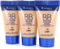 Rimmel London Rimmel BB Cream - 01 Light (Testers 3 x 15 ml)
