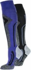 Merkloos / Sans marque Falcon Falcon Blunt Wintersportsokken - Maat 39-42 - Vrouwen - blauw/grijs/paars