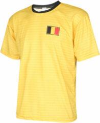 Gele Holland Belgie Voetbalshirt Uit Blanco 2018-2020 Kids/Senior OP=OP-M