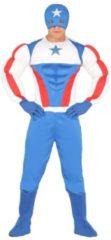 Marvel Superheld kapitein Amerika kostuum voor heren - verkleedpak M (48-50)