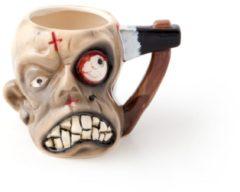 Creme witte United Entertainment - Zombie Mug - Beker - Zwart/Wit