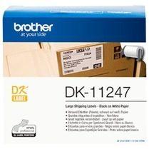 Brother DK-11247 Rol met etiketten 103 x 164 mm Papier Wit 180 stuk(s) Permanent DK11247 Verzendetiketten, Universele etiketten