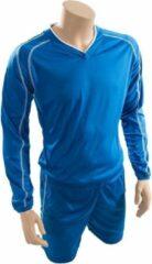 Precision voetbalshirt- en broek Marseille unisex blauw mt L