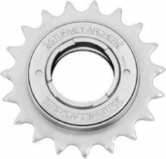 Zilveren Sturmey archer Freewheel 20t 1/2 x 1/8 inch