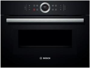 Afbeelding van Zwarte Bosch CMG633BB1 inbouw compacte bakoven met magnetron met TFT display