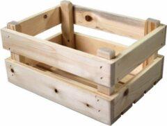 Bruine Merkloos / Sans marque Merkloos transport krat mini hout