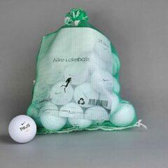 Witte Golfballen gebruikt/lakeballs Nike 25 stuks in meshbag