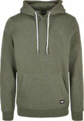 Donkergroene Urban classics Heren hoodie Basic Melange Hoody darkgreen