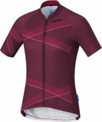 Bordeauxrode Shimano Fietsshirt Team Performance Dames Polyester Bordeaux Maat Xxl