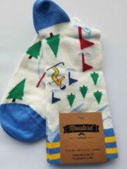 Rode Merkloos / Sans marque Moustard londen sokken maat 41/46 met ski print