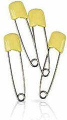 Koh I Noor 4 veiligheidsspelden met beschermkap - pastel geel - 5,4 cm - baby safety pins