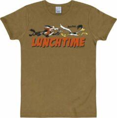 Zandkleurige Logoshirt Heren T-shirt Maat EU42