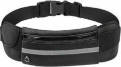 Doodadeals® Running Belt – Hardloop Heupband – Sport Heupband Telefoon – Sport Heuptas – Uitgang voor Koptelefoon Aansluiting – Opbergen Sleutels – Verstelbaar - Zwart