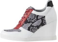 Witte Sneakers met sleehak