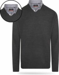 Antraciet-grijze Pierre Cardin - Heren Sweaters Mock Pullover - Grijs - Maat XL