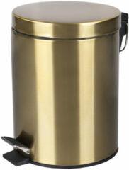 Pedaalemmer Differnz Soft Close Deksel 5 Liter Mat Goud