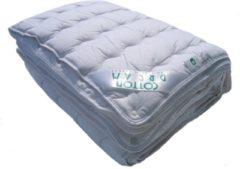 Witte TIMZO 4-Seizoenen Katoenen Dekbed Cotton Comfort-140 x 220 cm (Wasbaar 90 graden C)