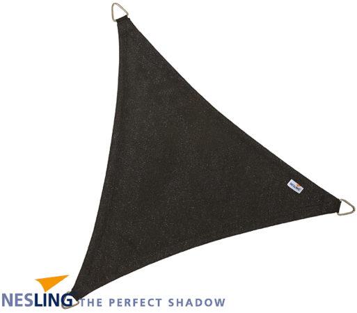 Afbeelding van Zwarte Schaduwdoek - Nesling - Coolfit - Zwart - Driehoek 5,0 x 5,0 x 5,0 m