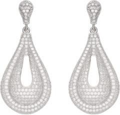 Classics Zilveren Oorbellen druppelvorm met zirconia 108.5382.00