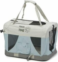 Lichtblauwe Beeztees Travel Time - Hondenbench - Nylon - 49x34x35 cm