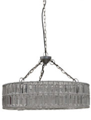 PTMD Suze transparante hanglamp maat in cm: 100 x 40 x 38 - Zilver