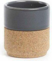 Amorim Cork Soulmate Drinkbeker - Porselein - 8 cm - Grijs