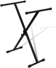 Zwarte VidaXL Keyboardstandaard verstelbaar enkelvoudig X-frame